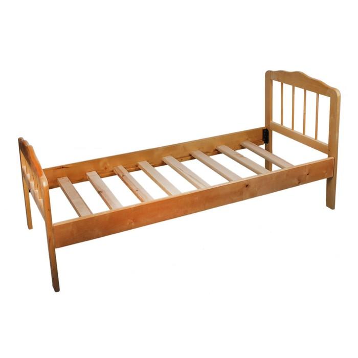 """Кровать детская """"Непоседа-3"""" массив из березы, светлая"""