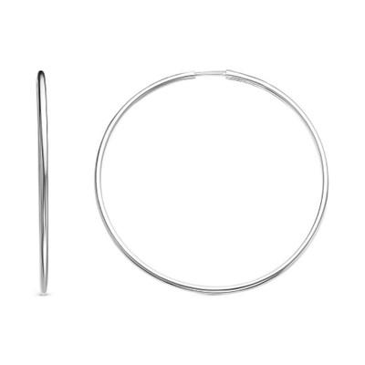 """Серьги кольца """"Классика"""" d=4,6см, посеребрение"""