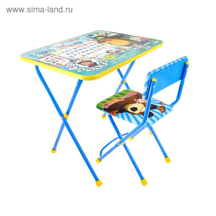 """Набор детской мебели """"Маша и медведь. Азбука 2"""" складной, цвета стула МИКС"""