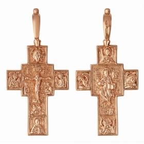 """Крест нательный """"Православный"""" крупный, позолота"""