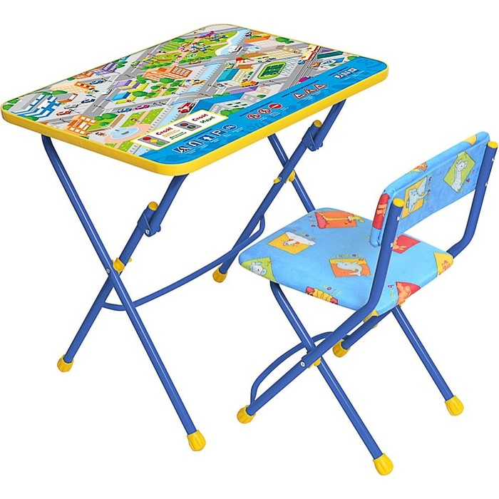 """Набор детской мебели """"Никки. Правила дорожного движения"""" складной, цвета стула МИКС"""