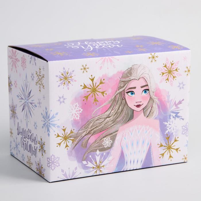 """Коробка подарочная складная """"Happy new year"""", Холодное сердце, 20 x 15 x14 см"""