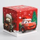 """Коробка подарочная складная """"С Новым Годом"""", Тачки, 9 x 9 x 9 см"""
