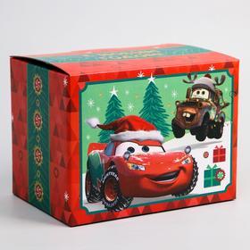 """Коробка подарочная складная """"С Новым Годом"""", Тачки, 20 × 15 × 14 см"""