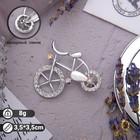 """Брошь """"Велосипед"""", цвет радужный в серебре"""