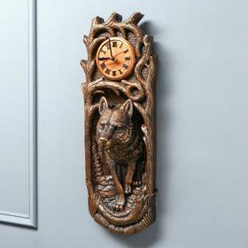 """Часы """"Волк"""" коричневый цвет, 18 х 50 см"""