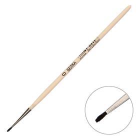 Кисть Белка круглая № 0 (диаметр обоймы 1 мм; длина волоса 5 мм), деревянная ручка, Calligrata