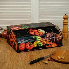"""Хлебница деревянная """"Овощной ящичек"""", цветная"""
