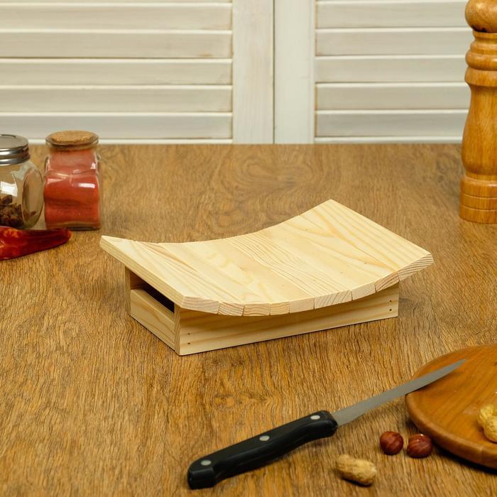 Подставка под хлеб деревянная 180х150х55мм - фото 493029