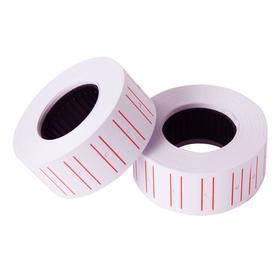 Этикет-лента 21.5 х 12 мм, белая с красной полосой, 700 этикеток Ош