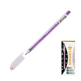 """Ручка гелевая Crown """"Hi-Jell Pastel"""" узел 0,8мм, фиолетовая пастель HJR-500P"""