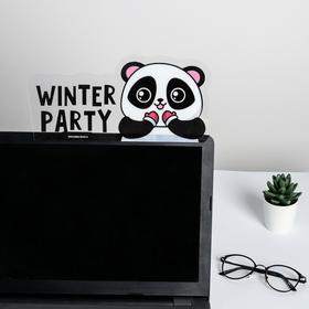 Панель для стикеров на компьютер Winter party Ош