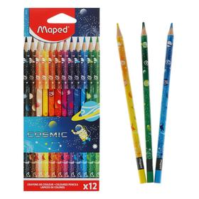 12col pencils Maped COLOR PEPS COSMIC plastic, decorated in cards.box, suspension