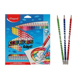 24col pencils with eraser Maped COLOR PEPS OOPS plastic, in a cardboard box with suspension
