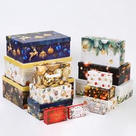 Набор коробок подарочных 15 в 1 «С Новым годом», 12 х 7 х 4 см - 46,6 х 35,2 х 17.5 см