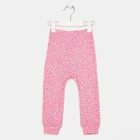 Штанишки, цвет розовый/леопард, рост 68 см