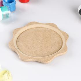 """Blank for creativity plate """"Small"""" D=15cm, not painted"""