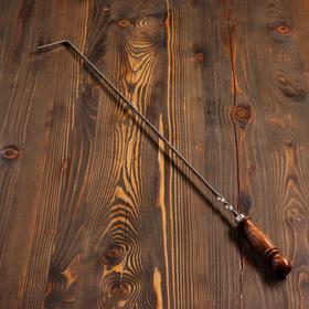 Кочерга узбекская с деревянной ручкой, с узором, 60/1см, сталь 3мм Ош