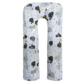 Подушка для беременных u-образная, размер 340 × 35 см, принт котики жёлтый