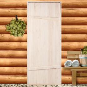 """Дверной блок для бани, 170×70см, из сосны, на клиньях, массив, """"Добропаровъ"""" 4271556"""