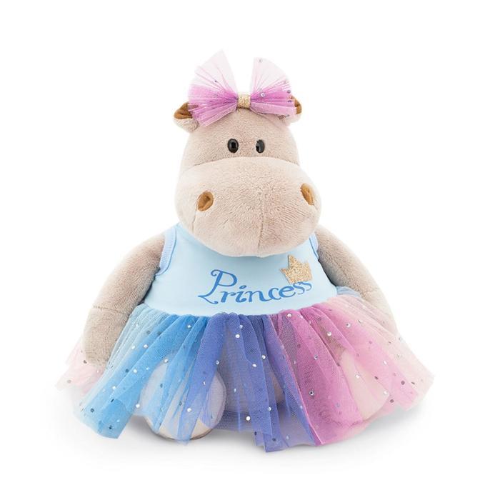 Мягкая игрушка «Бегемотик Принцесса: в голубом», 20 см - фото 4471489