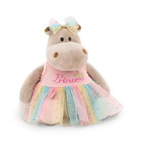 Мягкая игрушка «Бегемотик Принцесса: в розовом», 20 см