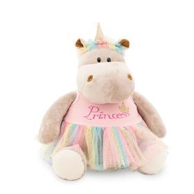 Мягкая игрушка «Бегемотик Принцесса: Единорог», 30 см