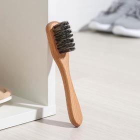 Brush Shoe 160h32h12 26 beech beams, wax