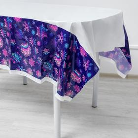Скатерть «Снежинки», 182 х 137 см