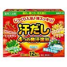 Согревающая соль для ванны Hakugen Earth Asedashi, на основе углекислого газа, с экстрактом перца, 12 шт. по 25 г