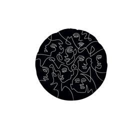 """Шар фольгированный 18"""" «Образ инверсия», круг"""