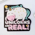 Фигурный блокнот на болтике Unicorns are real, 50 л