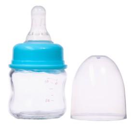 Бутылочка для кормления, стекло., 60 мл., «Крошка Тэд» цвет голубой