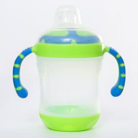 Поильник детский с силиконовым носиком, 210 мл., цвет зеленый