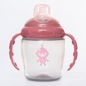 Поильник детский с силиконовым носиком, 240 мл., цвет розовый