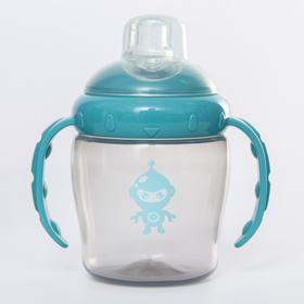 Поильник детский с силиконовым носиком, 240 мл., цвет бирюзовый