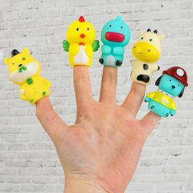Фигурки на пальцы пальчиковый театр «Животные» 2,5х16,5х20 см