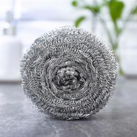 Губка для мытья посуды металлическая Raccoon, спираль оцинкованная, 30 гр