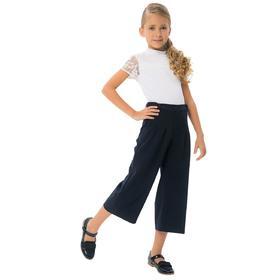 Блузка для девочек, рост 134 см, цвет белый
