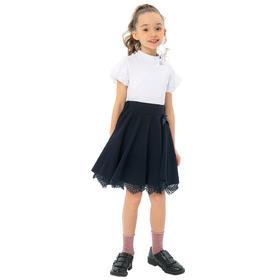 Блузка для девочек, рост 128 см, цвет белый