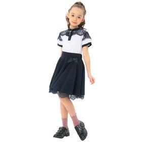 Блузка для девочек, рост 122 см, цвет белый