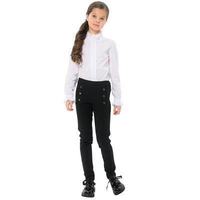 Брюки для девочек, рост 122 см, цвет чёрный