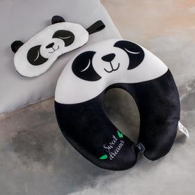 Набор-антистресс «Панда», подголовник, маска