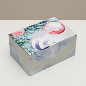 Складная коробка «Уютного Нового года», 22 × 15 × 10 см