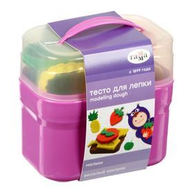 Тесто для лепки «Гамма» «Малыш. Веселый завтрак», 4 цвета х 60 г, 8 формочек, пластиковый кейс