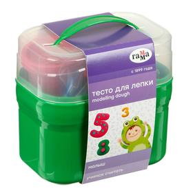 Тесто для лепки «Гамма» «Малыш. Учимся считать», 4 цвета х 60 г, 15 формочек, пластиковый кейс