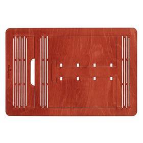 Подставка для книг, картин, нот 160 х 200 х 300 мм (до А4 формата), береза, цвет красное дерево