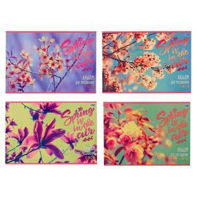 Альбом для рисования А4, 12 листов на скрепке «Весенний аромат», обложка мелованный картон, блок 100 г/м2, МИКС