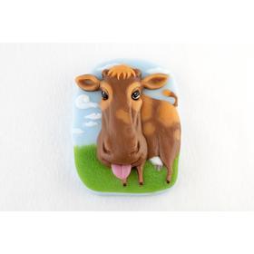 Силиконовая форма «Корова на лугу»