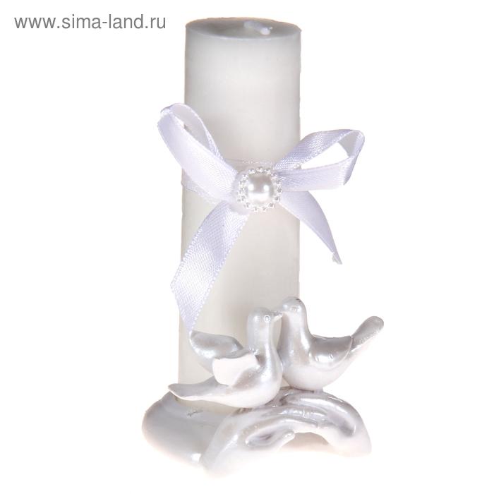 """Свеча восковая """"Голуби"""", цвет белый"""